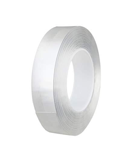 両面テープ 強力 透明 はがせる 凸凹面用 防水用 耐候性 耐熱性 DIY 車用テープ 透明両面テープ (15mm*10M)