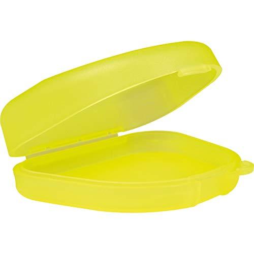 wellsamed Zahnspangendose Prothesendose maxi gelb Dose (auch für Aufbissschiene, Knirscherschiene) 1 Stück