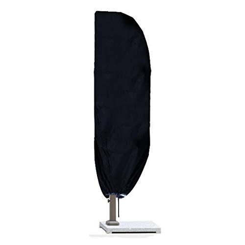 InkFenm Banana Cantilever Umbrella Cover, Heavy Duty Rip Proof 210D Oxford Tissu Extra Large Couverture Parapluie Cantilever, Extérieur Jardin Parasol Couverture,280:30/81/46cm