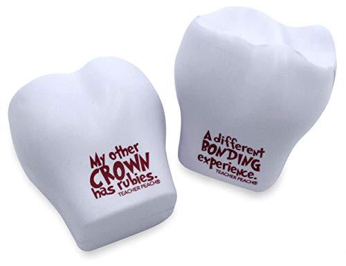 Teacher Peach Teeth Shaped Stress Balls, Perfect Dentist Gift Set or Dentist Toys for Kids
