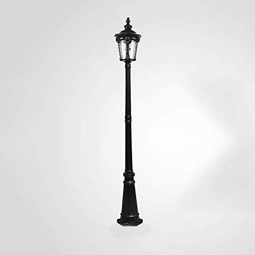 Iluminación para el hogar Poste de lámpara para exteriores Accesorio de iluminación para luces exteriores Poste de calle, con paneles de vidrio, para patio trasero de villa, patio, jardín, pasarela, e