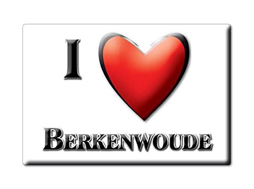 BERKENWOUDE (H) FRIDGE MAGNET NETHERLANDS ZUID HOLLAND SOUVENIR I LOVE GIFT PRESENT