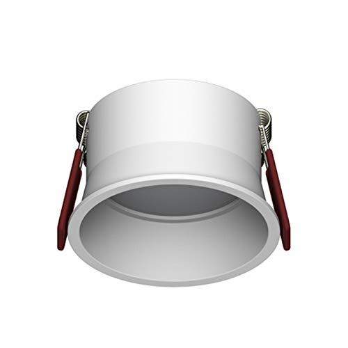 RongWang Foco empotrable LED empotrable de 5 W, 7 W, 12 W, 15 W, redondo, color blanco