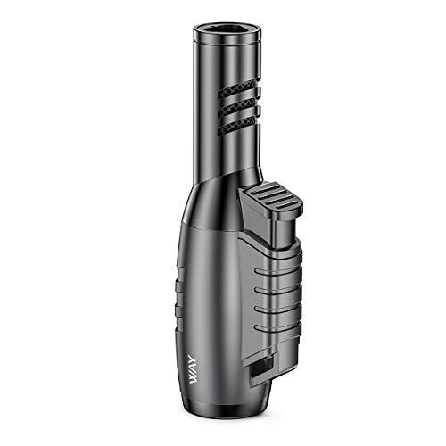 VVAY Gasfeuerzeug Sturmfeuerzeug Jetflamme Gas Nachfüllbar, 3 Flammen Turbo Jet Torch Feuerzeug (Verkauft ohne Gas)