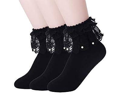 Women Lace Ruffle Frilly Ankle Socks Fashion Ladies Girl Princess H06