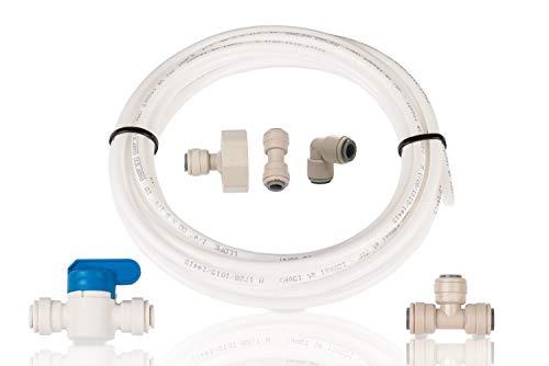 aqualogis Kühlschrank Filter Klempner-Kit/Set Schlauchanschluss Ice Maker (Kit 6) für American Style Kühlschrank, passt LG, Samsung, Bosch, Daewoo, GE, alle mit 1/10,2cm (6,35mm) Wasser Tube Größe