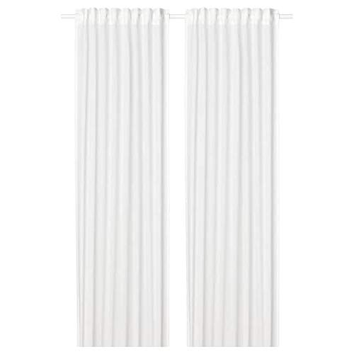 IKEA SILVERLONN Sheer Voile Curtains 57x98 2 Panels (1 Pair) Cotton White