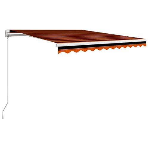 CFG Sombrillas de jardín, parasoles, Toldo de jardín, Manual retráctil gris antracita brazo plegable toldo balcón protección solar 300x250 cm