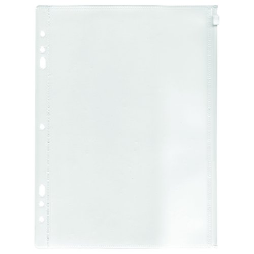 ADVANTUS Zip-All Pocket for Ring Binders, 8.5 x 11 Inches, Frosted, See-Through (ANG52)