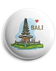 AVI Regular Size 58mm Fridge Magnet Metal White Bali Indonesia Travel Souvenir MR8002175