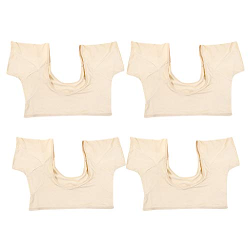 LoveinDIY 4 x Breathable Underarm Armpit Sweat Pads Shield Underwear Cami, Shields Sweat Guard - Sweat Absorbing Undershirt (M&L)