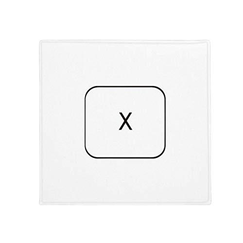 DIYthinker Tastatur Symbol X Anti-Rutsch Boden Pet Matte quadratisch Badezimmer Wohnzimmer Küche Tür 60/50cm Geschenk, Gesponnenes Polyester, Mehrfarbig, 50X50cm