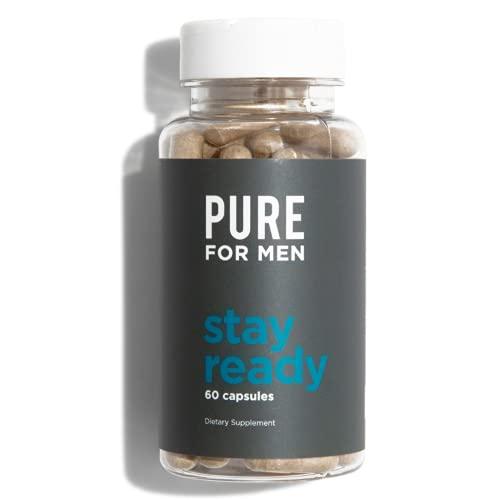 Pure for Men Original Vegan Cleanliness Fiber Supplement, 60 Capsules | Helps Promote Digestive Regularity, Heart Health | Psyllium Husk, Aloe Vera, Chia Seeds, Flaxseeds | Proven Proprietary Formula