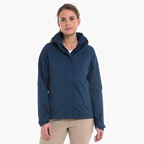 Schöffel Damen Wasser- Und Winddichte Outdoorjacke Für Frauen, Leichte Und Flexible Damen Regenjacke Für Jedes Wetter Jacket Easy L4, dress blues, 40, 12638