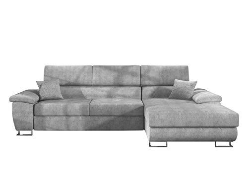 Mirjan24 Ecksofa Cotere Mini, Eckcouch Sofa Couch mit Schlaffunktion und Bettkasten L-Sofa Wohnlandschaft vom Hersteller, Polsterecke Farbauswahl (Alfa 17, Seite: Rechts)