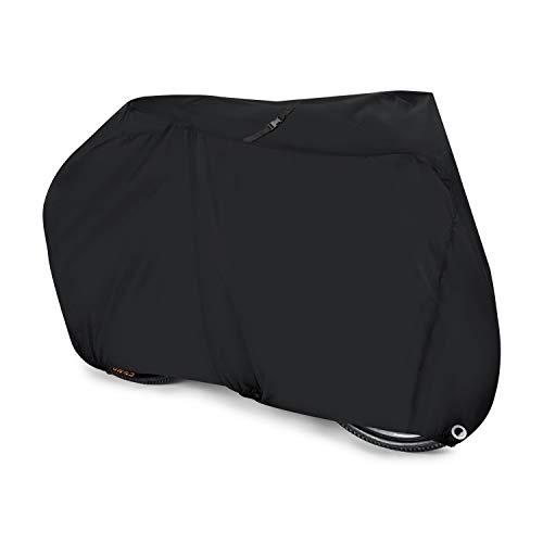 Aival - Funda de bicicleta de montaña y de carretera, de nailon impermeable, 190T, antipolvo, antilluvia, antiultravioleta, con orificios para atarla , Negro