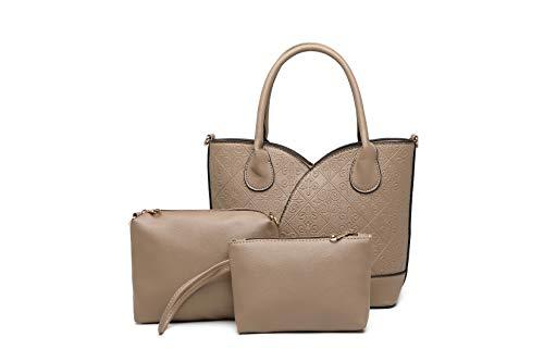Diana Korr Women's Shoulder Bag with Sling (Khaki) (Set of 3)