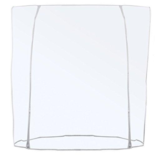 Housse de protection transparente pour porte-dragées - Double fermeture éclair - Longueur : 120/150/180 cm (180 cm).