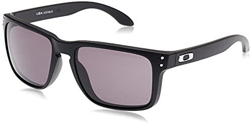 Oakley Men's OO9417 Holbrook XL Square Sunglasses, Matte Black/Warm Grey, 59 mm