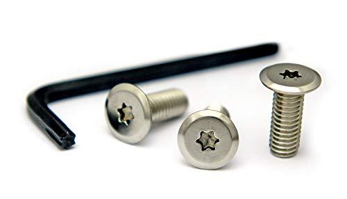 ナンバープレート用ボルト フラットタイプ ステンレス(シルバー) 3本&工具セット M6×16