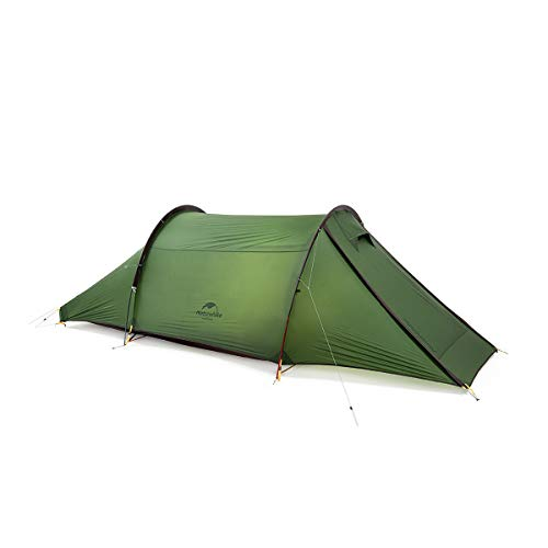 Naturehike Cloud Tunnel Tent Double Resident Tunnel Tent for Camping, 2 Person Backpacking Tunnel Tent Light Trekking (Forest Green)