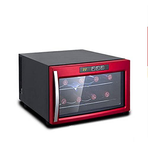 Refrigerador De Vino De 8 Botellas - Refrigerador De Refrigerador De Vino Blanco/Tinto Enfriador De Vino De Encimera - Mini Refrigerador De Vino Compacto Independiente