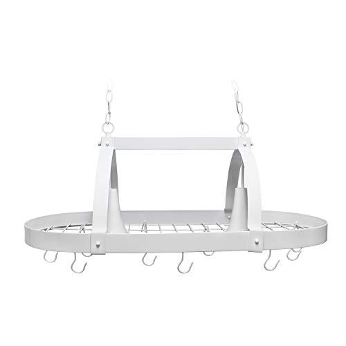 Elegant Designs PR1000-WHT Kitchen Downlights 2 Light Pot Rack, White