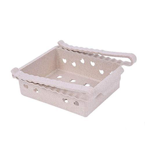 RUIXIANG - Caja de almacenamiento para refrigerador de cocina, accesorios de baño, ahorro de espacio, latas de acabado de cuatro cajas organizadoras creativas