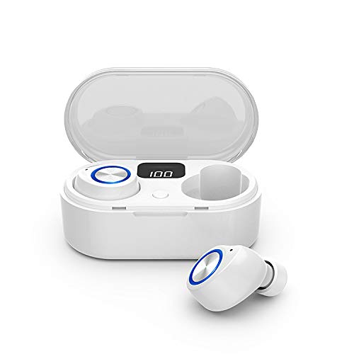 EZTecho Audífonos Bluetooth Airdots Wireless Audífonos Bluetooth 5.0, Auriculares Bluetooth TrueFree+ IPX4 Impermeable HD Estéreo In-Ear Inalámbricos Mini Audífonos Inalámbricos Manos Libres Micrófonos Dual Incorporado