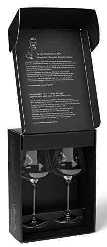 Gabriel-Glas 2 Stück Weinglas mundgeblasen österreichischer Kristall Weinglas Gold Edition