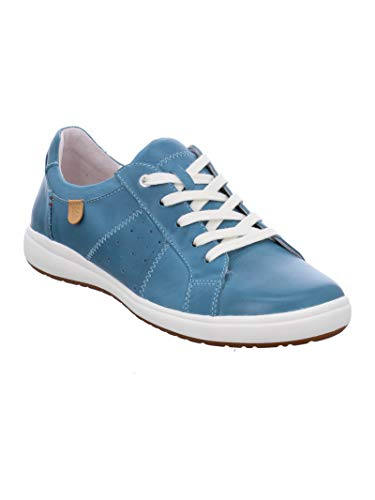Josef Seibel Mujer Zapatos de Cordones Caren 01, señora Calzado Deportivo,Zapato con Cordones,Calzado de Exterior,Ocio,Azur,38 EU / 5 UK