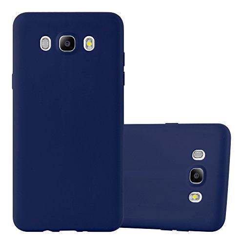 Cadorabo Hülle für Samsung Galaxy J5 2016 in Candy DUNKEL BLAU - Handyhülle aus flexiblem TPU Silikon - Silikonhülle Schutzhülle Ultra Slim Soft Back Cover Case Bumper