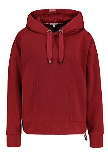 Sublevel Damen Basic Hoodie mit Strukturmuster Dark-red XS