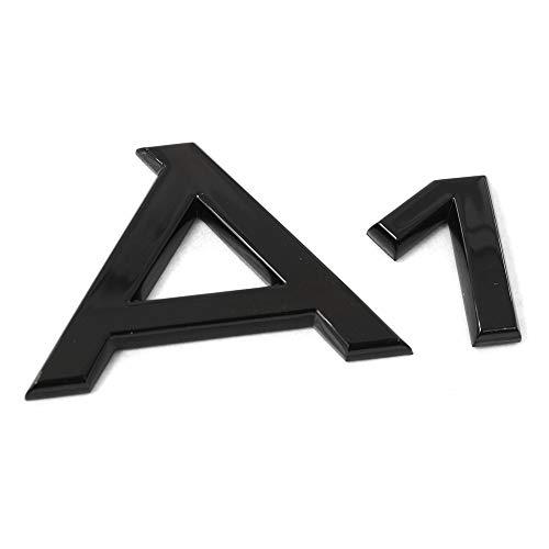Audi 82A071803 Texto A1 Logo Negro Tuning Exclusive Black Edition Emblema autoadhesivo