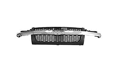 Perfit Liner New Front Dark Gray Grille Grill Replacement With Chrome Molding For 04-12 Colorado Pickup Truck Fits LS LT Model GM1200518 12335794