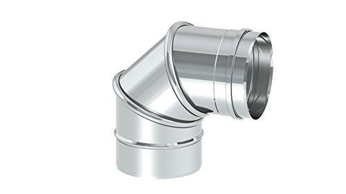 Schornstein - Winkel drehbar 0-90°, Innendurchmesser 150mm; 0,6mm Wandstärke, Edelstahl