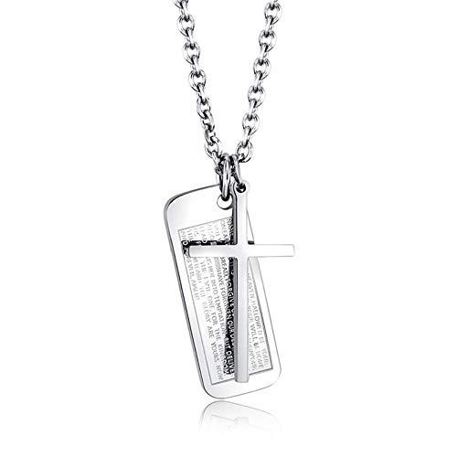 Preisvergleich Produktbild tgbvr Titan Stahl Kreuz Anhänger Herrenschmuck Doppel Halskette
