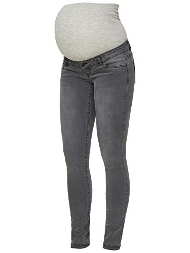 MAMALICIOUS Mama Licious Damen Umstandsjeans Slim Fit 2832Grey Denim
