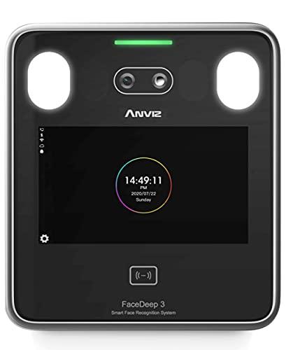 Anviz FaceDeep 3: reconocimiento Facial (< 3 m) Control de accesos, máscara, Tarjeta RFID, Pantalla táctil, TCP/IP WiFi y USB, Webserver.