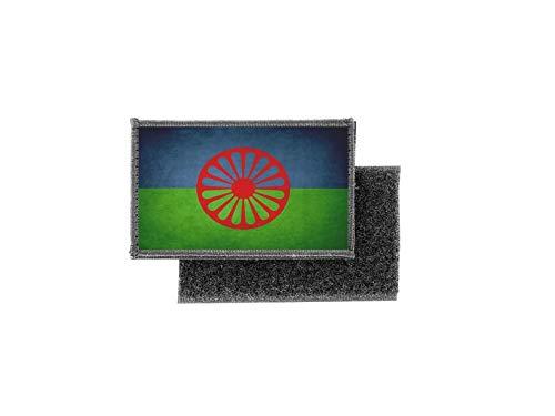 Aufnäher patch aufbügler vintage gedruckt flagge fahne sinti roma roms