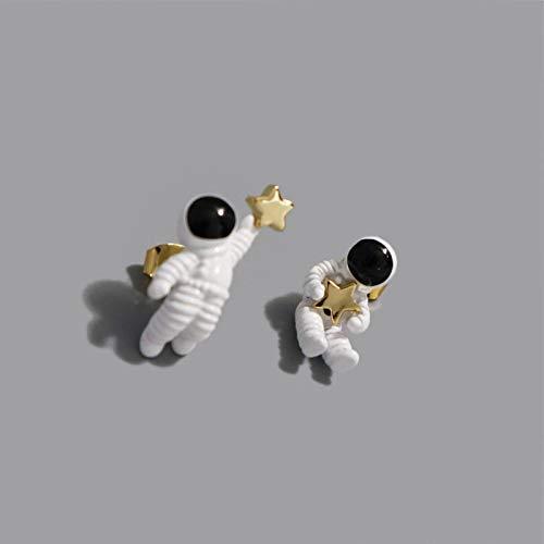 Earthily Pendientes estética, aretes Dulces de Astronauta, Tome Las Estrellas en el Cielo para Usted.Pendientes Colgantes Drop Pair Pendientes creativos únicos, Pendientes estética