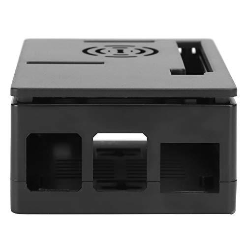 Yctze 4 Carcasa Modelo B, Carcasa de refrigeración para microcomputadora, Variedad de interfaces Resistentes y duraderas para microcomputadora(Black Shell)