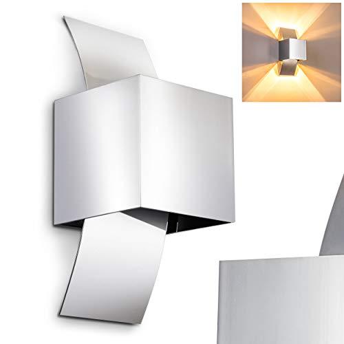 Lampada da Parete Applique Metallo Cromato Luce Su&Giu Stile NEW