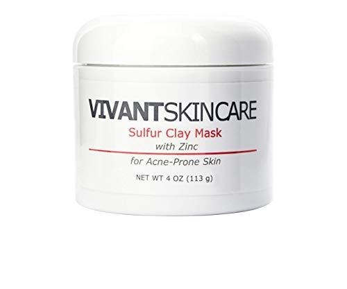 Vivant Skin Care Sulfur Clay Mask - Peptide Essential Therapeutic Mask - 4 Fluid Ounce