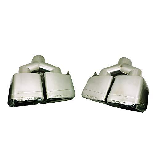 Super-ZS Auto Auspuff Endrohr AMG Vierkantmundschalldämpfer 57mm passend für 2009-2012 Mercedes-Benz W204 / W212 / E200 / E260 / E300 / CLS / C63 / E63