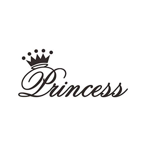 Prinses kroon muursticker voor meisjes babykamer slaapkamer huis decoratie kunststicker nacht sticker behang