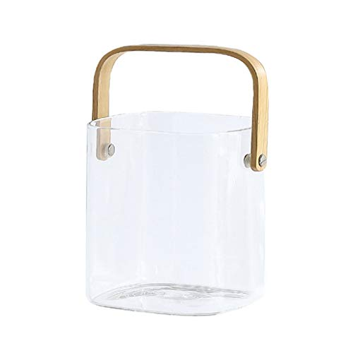 Cubitera Cubo de Hielo Cubo de Almacenamiento Cubo de Vidrio Cubo de Hielo Transparente Cubo de Cerveza de Champagne Apto para Fiestas de Banquetes de Barra Familiar Cubitera Hielo