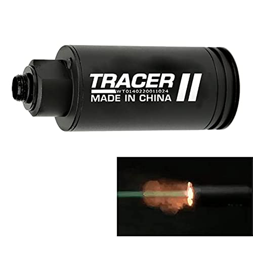 DoxiGlobal Mini Simulated Spitfire Tracer Unit Lighter S Tactical Airsoft Automatic Gun Pistol Light BBS Glow in Dark for 14mm CCW / 10mm CW Thread M14 CCW Thread to M11 CW Thread Paintball
