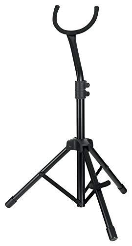 Tornado TODPSC050 Baritonsaxophon-Ständer - Sehr stabiles Stativ - 1-fach ausziehbar - Höhenverstellbar von 75 bis 85 cm - Material: Stahl - Gepolsterte Auflagen - Farbe: Schwarz