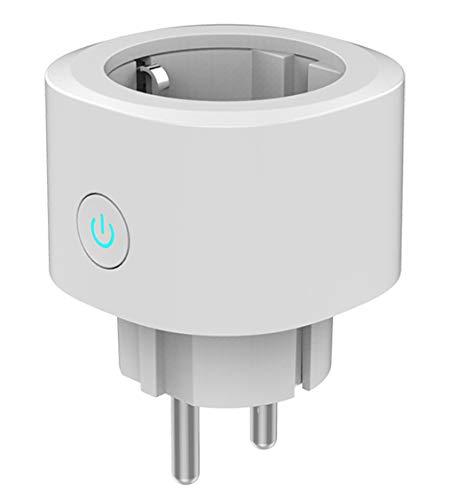 Woox Smart Plug Mini WiFi Enchufe Funciona con el Temporizador Amazon Alexa Asistente de Google IFTTT, No Requiere un Concentrador, 2.4 GHz Wifi Habilitado Control Remoto de Voz Socket Blanco